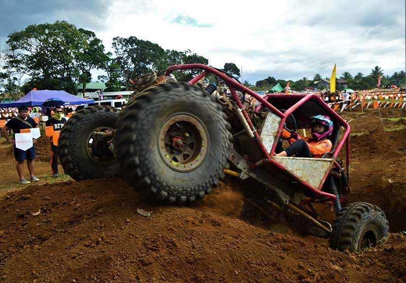 BUKIDNON. Off-road racers from all over the country and Malaysia navigate the various obstacles on the racetrack during the final leg of the Philippine Tough Truck Challenge (PTTC) XVIII held in Barangay Poblacion, Libona town, Bukidnon, recently. The sporting event was organized by the National Association of Filipino Off-Roaders and is being recognized as part of the sport tourism package by the Department of Tourism in the region. (Jigger J. Jerusalem)