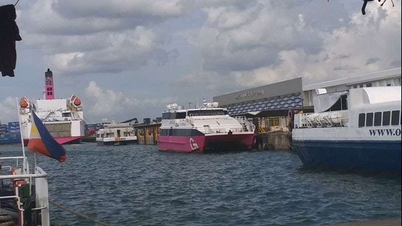 BACOLOD. Some of the fastcraft vessels docked at the Bredco Port in Bacolod City as trips were cancelled Thursday, December 27, due to Tropical Depression Usman. (Erwin Nicavera)