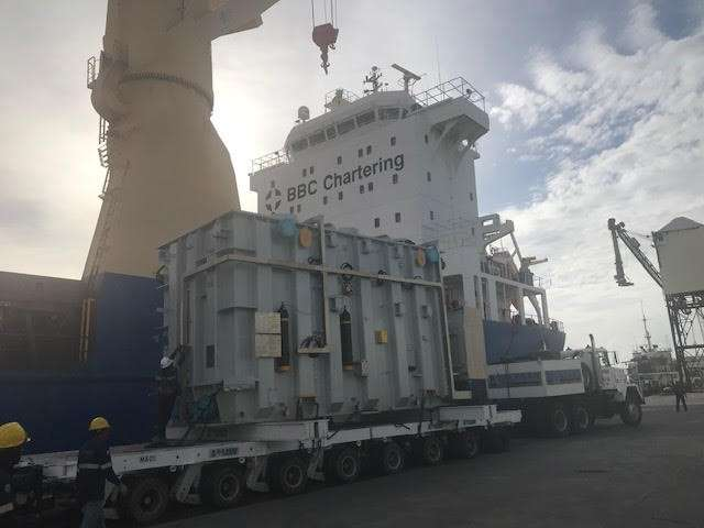 BACOLOD. National Grid Corporation of the Philippines' heavy transformers unloaded at Bacolod Real Estate and Development Corporation port. (Contributed photo)