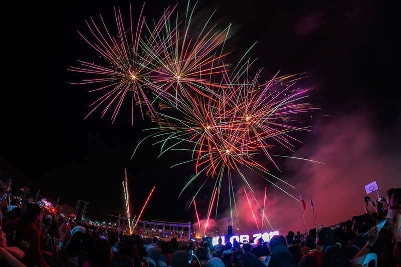 NEGROS. Featuring 80's new wave hits, the grand fireworks display wowed over 35,000 spectators during the 11th Lights of Bago at the Manuel Y. Torres Sports Complex in Bago City on Tuesday, January 1. (John Kimwell Laluma)