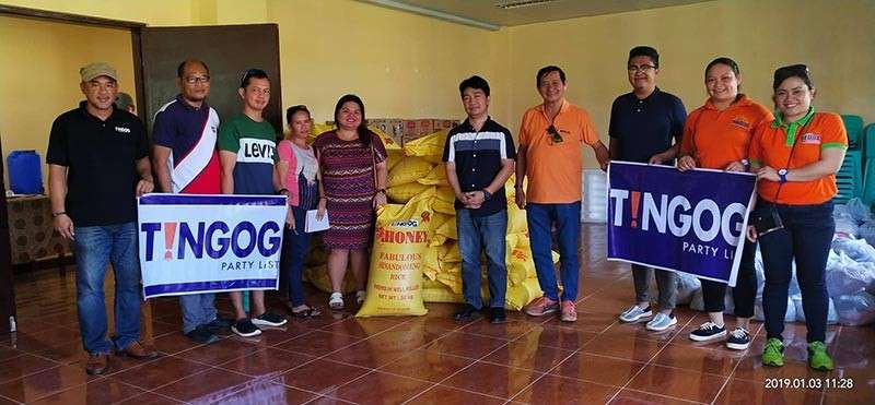 "NORTHERN SAMAR. Tingog Sinirangan partylist delivers at least 50 sacks of rice to Lope de Vega and another 50 sacks of rice to Catarman in Northern Samar on Thursday, January 3. The delivery of rice is in response to the call for help of the residents and officials after Tropical Depression ""Usman"" brought heavy rains and floods to the areas last week, causing massive disruption to their food supply. Local officials thanked Tingog party list, Leyte First District Representative Yedda Marie Romualdez and her husband former Leyte Representative now Lakas-CMD party president-Atty. Ferdinand Martin Romualdez for their humanitarian response. (Contributed photo)"