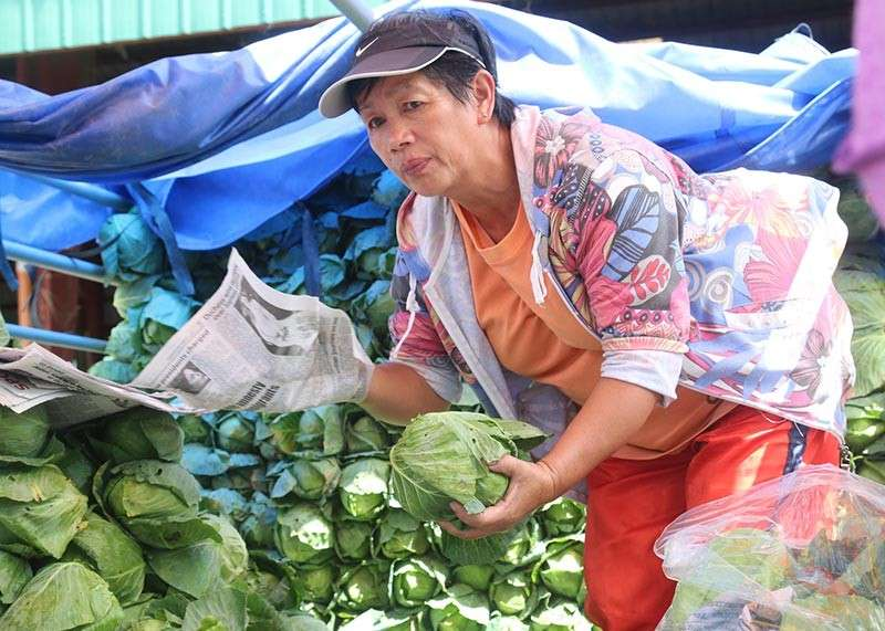 BENGUET. A trader packs cabbage at the La Trinidad Trading Post in Benguet before these are transported to the different markets in the country. Benguet remains the top crop producer in the Cordillera, accounting for 65 percent of the region's total production. (SunStar Baguio File Photo)