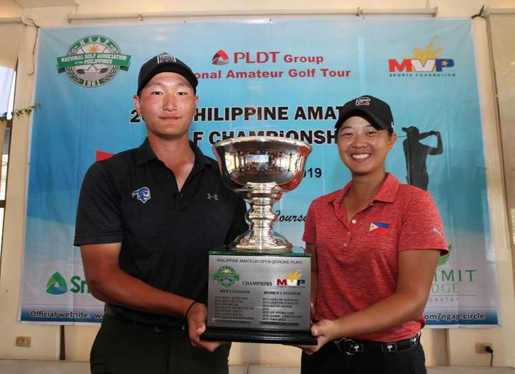 CEBU. Gen Nagai and Lois Kaye Go lorded it over in the Philippine Amateur Open Golf Championship. (Contributed)
