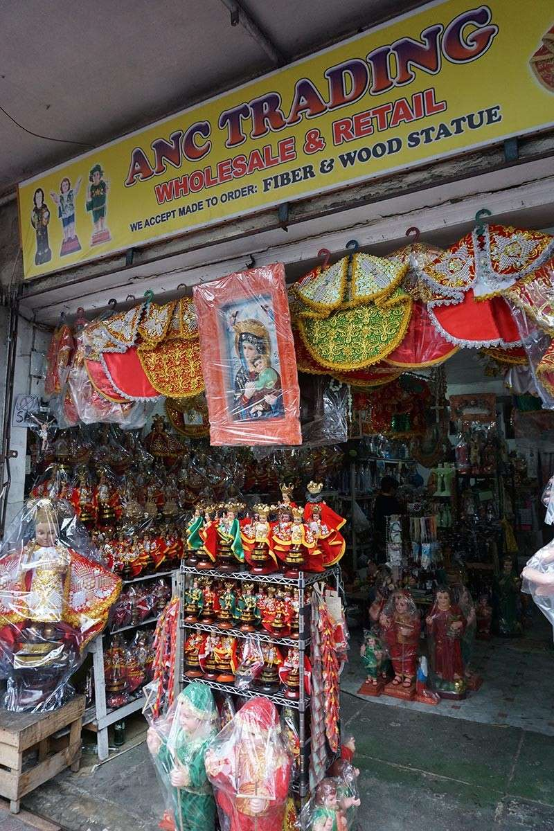 GOOD FOR BUSINESS. A store in downtown Cebu City has established itself as a place to go to for statues of religious icons. But for those just starting out, the Ease of Doing Business law is expected to ease the burden of new entrepreneurs. (SunStar photo / Alex Badayos)