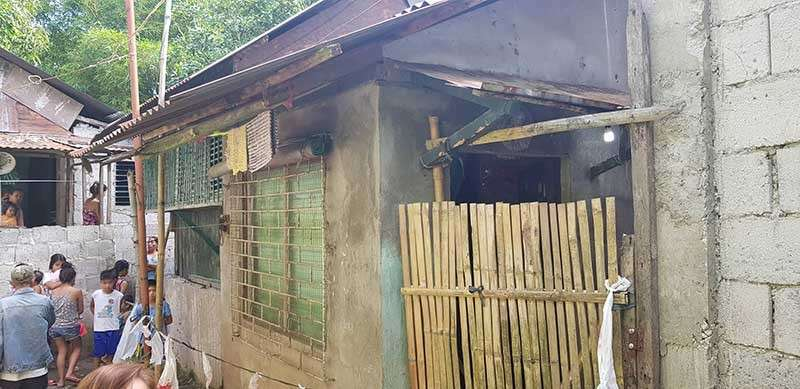 NEGROS. The house where the 10-year-old girl was found dead, hogtied, and stuffed in a basin in Talisay City, Negros Occidental on Friday, January 4. (Contributed photo)
