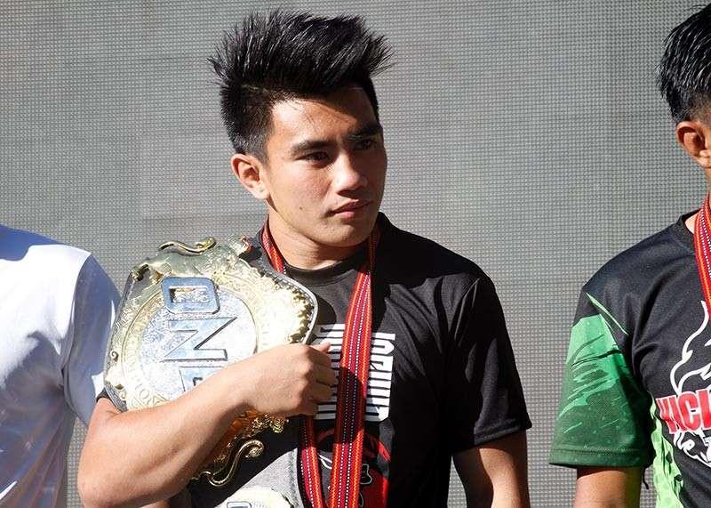BAGUIO. ONE Championship strawweight world champion Joshua Pacio is anticipating a heavy showdown against challenger Yosuke Saruta. (Jean Nicole Cortes)