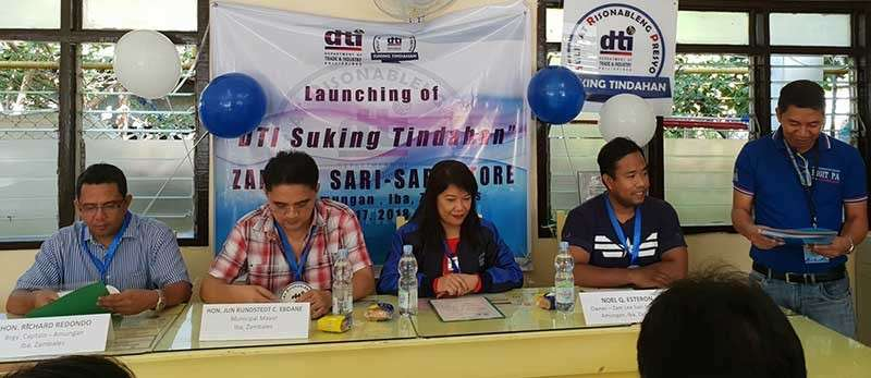 PAMPANGA. Iba Mayor Jun Rundstedt Ebdane (2nd left) and Department of Trade and Industry Provincial Director Leonila T. Baluyut (2nd right) attend the conferment of Suking Tindahan Seal to Zam Lee Sari-Sari Store in Iba town, the first recipient in the province of Zambales. (Contributed Photo)