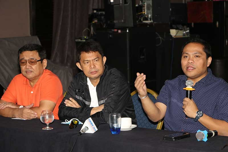 PAMPANGA. Mabalacat City Vice-Mayor Christian Halili and councilors Jerry Basilio and Jeng Yumul announce that a case against Mayor Cris Garbo and two department heads were filed at the Office of the Ombudsman. (Chris Navarro)