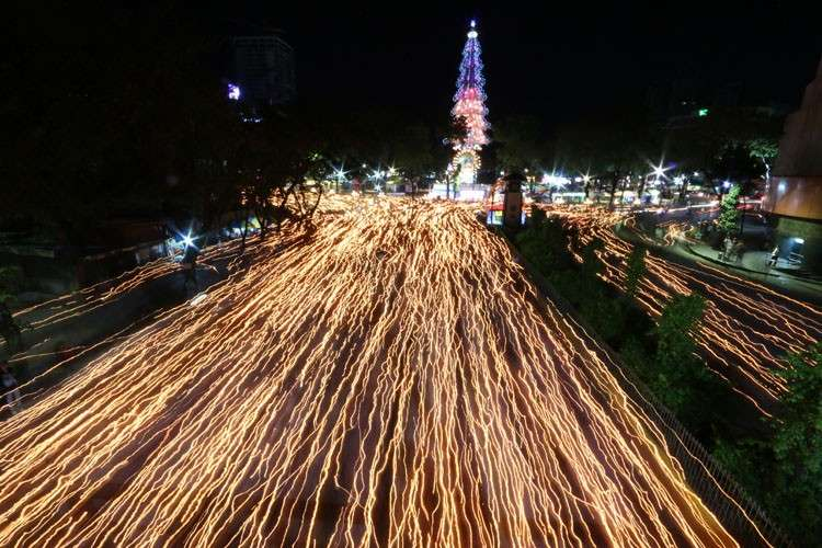 CEBU.  The city lights up during the