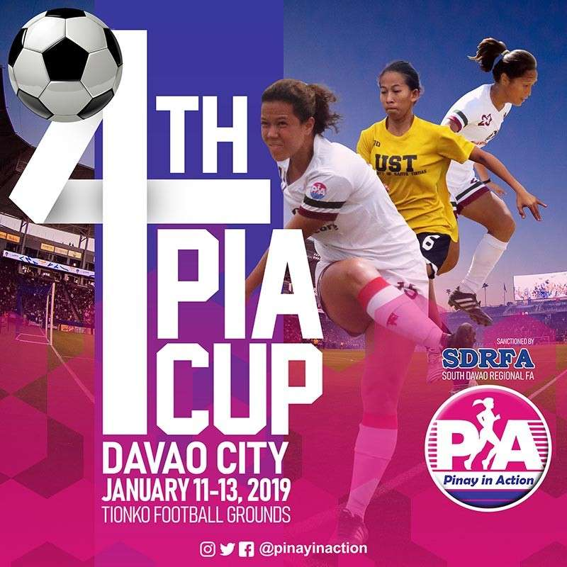DAVAO. Pinay in Action (PIA) project manager Ayra Malabayabas, during the Davao Sportswriters Association (DSA) Forum at The Annex of SM City Davao yesterday, says it's all systems go for the staging of the 4 PIA Cup football tournament slated to open today. (Marianne L. Saberon-Abalayan)