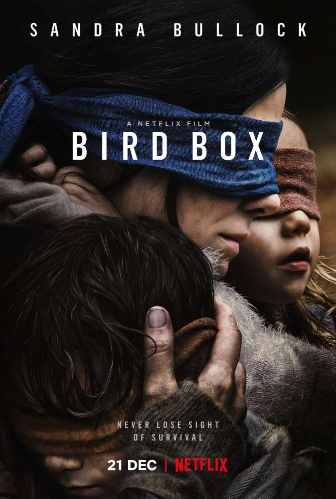 Theatrical poster of Bird Box (Photo grab from Netflix)