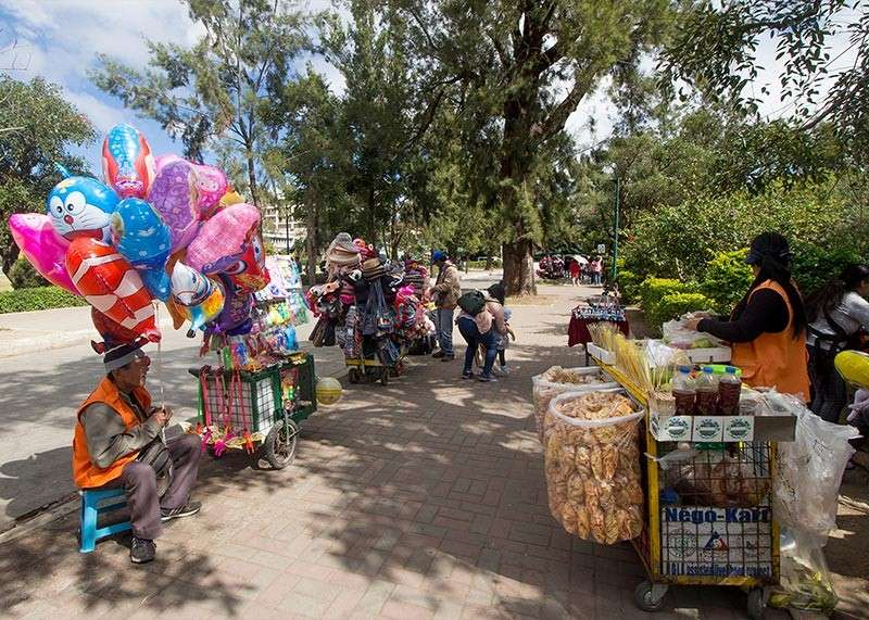 BAGUIO. After enjoying brisk sales during the holiday season, vendors at Burnham Park gets idle sales on a weekday with less visitors at the park. (Jean Nicole Cortes)