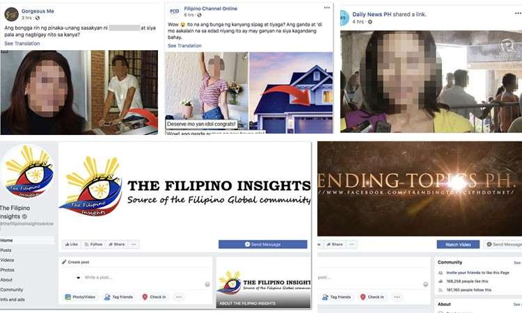 Screenshots of pages and posts that Facebook had taken down for violating its coordinated inauthentic behavior and spam policies. (From newsroom.fb.com)