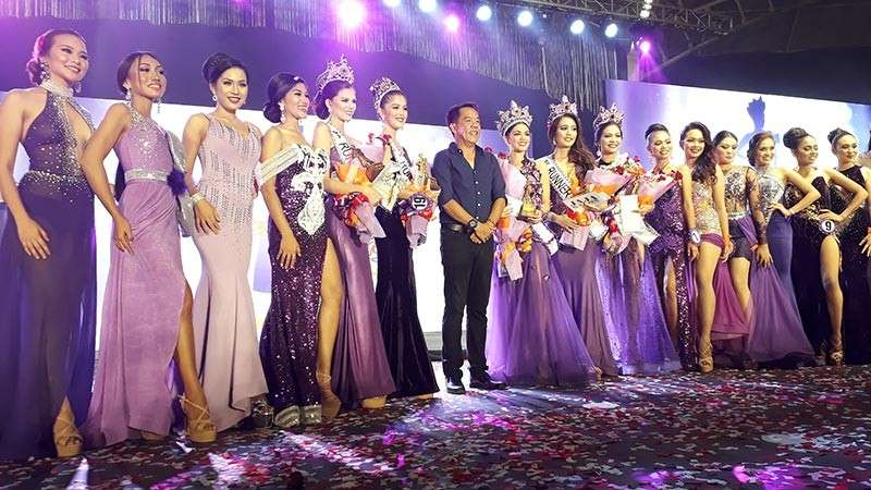 TAGOLOAN. Misamis Oriental Governor with Miss Kuyamis 2019 Chella Grace Falconer of Medina, 1st runner up Maria Luz Victoria Delos Angeles of Tagoloan, 2nd runner up Adel Ebarat of Talisayan, 3rd runner up Chery Rose Lomopog of Sugbongcogon, 4th runner up Cris Antonette Teano of El Salvador City, and the rest of the candidates of the beauty pageant. (Jo Ann Sablad)