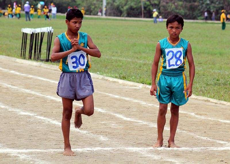 BENGUET. During Apayaos' hosting of the CARAA sports meet in 2013, student athletes utilized the dusty oval track. Fast forward to 2018, officials of the province vowed for an improved oval with the installation of a rubberize track in time for the opening of the annual regional sports meet this February. (Photo by Roderick Osis)