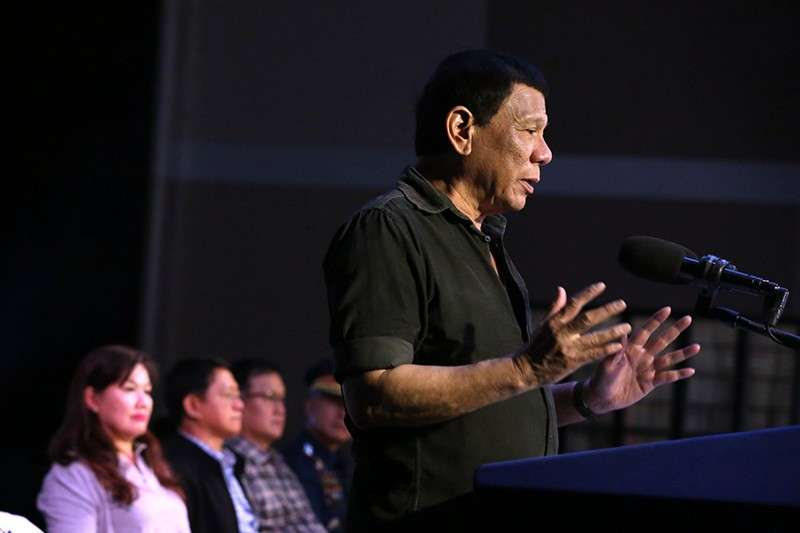 BULACAN. In this file photo, President Rodrigo Duterte delivers his speech after leading the ceremonial turnover of housing units to wounded police officers and soldiers at the Pleasant View Residences in the City of San Jose del Monte, Bulacan on January 10, 2019. (Photo courtesy of Presidential Communications Facebook page)