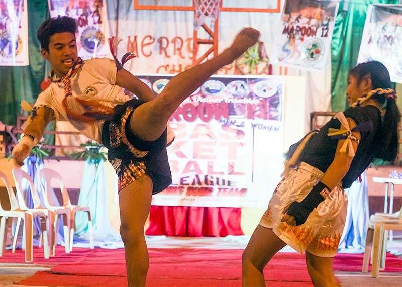 BAGUIO. Young athletes of Tribal Submission Philippines Team Torogi demonstrates their muay thai skills to the Sangguniang Kabataan (SK) in Loakan Proper. Athletes are gearing up for the 2nd Etag Muay Thai Competition in Sagada, Mountain Province on February 1 to 4. (Photo by Jean Nicole Cortes)