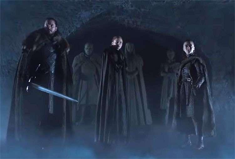 Screenshot from Game of Thrones final season trailer