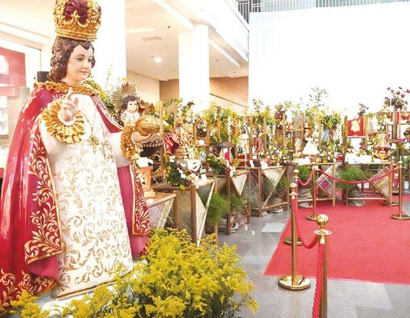 EXHIBIT OF FAITH. Ayala Center Cebu showcases the images of the Holy Child in time for the Fiesta Señor and Sinulog this week. (Contributed photo)
