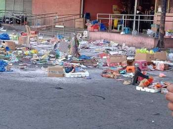 COTABATO. The scene after an improvised explosive device exploded in the afternoon of December 31, 2018 in front of a mall in Cotabato City. (File Photo)