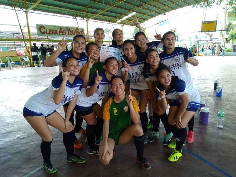 DAVAO. File photo shows most of these DCAA Meet 2018 gold medal performers from Ateneo de Davao University girls futsal team will form part of the Davao City squad to the upcoming Davao Region Athletic Association (Davraa) Meet 2019. (Contributed photo)