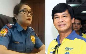 Cebu City Police Office Chief Royina Garma and Representative Bebot Abellanosa. (SunStar File)
