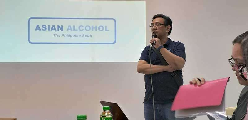NEGROS. Tanduay Distillers Inc. Chief Financial Officer Nestor Mendones speaks at the sidelines of the media tour at Asian Alcohol Corp. in Pulupandan town on Wednesday, January 16.(Erwin P. Nicavera)