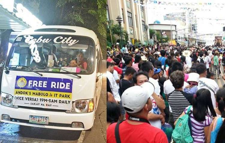 CEBU. As work in BPOs on Cebu continues, so does the free bus rides for employees. (SunStar)