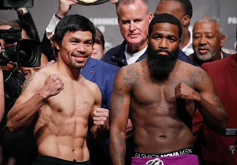 COMEBACK. Manny Pacquiao returns to Las Vegas for the first time in two years. (AP Photo)