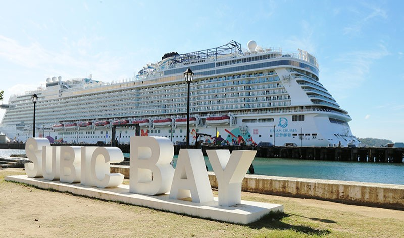 SUBIC. The cruise ship World Dream docks for the third time this year at the Alava Wharf in the Subic Bay Freeport arrives on Wednesday, January 16. (Ric Sapnu)