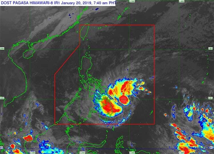 Satellite image of Tropical Depression Amang (Source: Pagasa)
