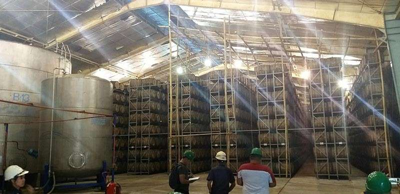 NEGROS. The aging facility of Asian Alcohol Corporation in Pulupandan houses 120,000 oak barrels of alcohol to be supplied to Tanduay Distillers in Murcia which is also in Negros Occidental. (Erwin P. Nicavera)