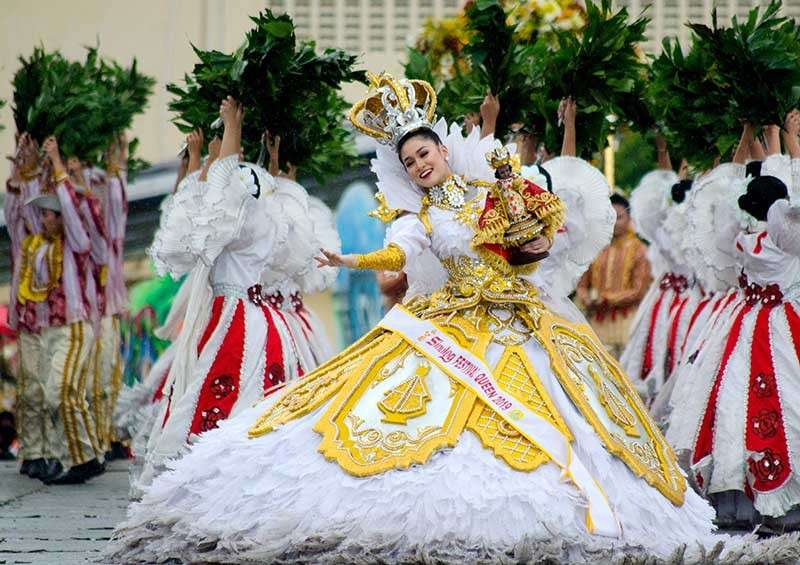 CEBU. Sinulog Festival Queen 2019 Nicole Borromeo. (Alan Tangcawan/Superbalita Photo)