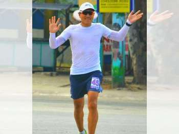 """BACOLOD. Negrense ultramarathoner Rolando """"Junjun"""" Espina Jr. will join the 134-mile race from Bacolod City to Dumaguete City. (Contributed photo)"""