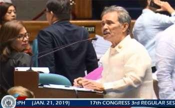 MANILA. Capiz Representative and Majority Leader Fredenil Castro. (Screenshot from House of Representatives Facebook video)