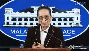 MANILA. Presidential Spokesperson Salvador Panelo in a press briefing in Malacanang on Monday, January 21, 2019. (Screenshot from Presidential Communications video)