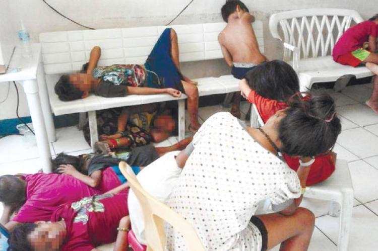 CEBU. In this file photo, streetchildren are rounded up and held at a police station. A bill proposing to lower the minimum age of criminal liability to nine years old is being debated in Congress. (File Photo)