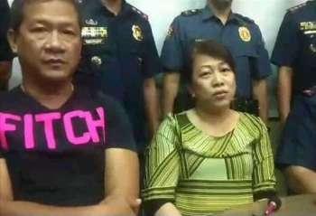 CEBU. San Fernando Mayor Lakambini Reluya and her husband Ricardo Jr. (SunStar file photo)