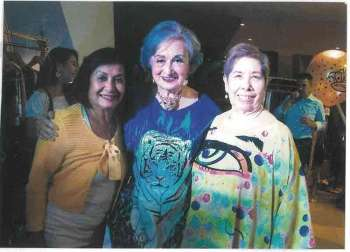 MONIQUE Pacheco-Ouano (center), with guests Maristella Araneta and Fe Magale.