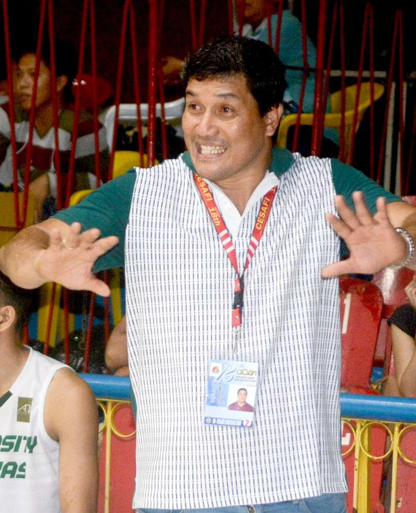 TARGET. Coach Gary Cortes said they aimed for the PCCL crown even before the Cesafi season started. (SunStar file)
