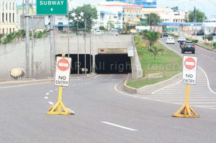 CEBU. The northbound lane of the tunnel at the Cebu South Coastal Road will be closed for a few hours of February 1, 2019 for repairs. (SunStar file)