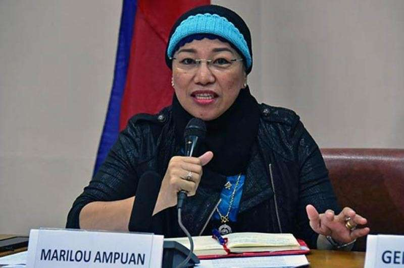 DAVAO. Marilou Ampuan, president of the Universal Islamic Center. (File Photo)