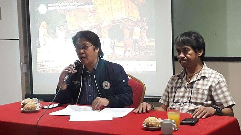 CAGAYAN DE ORO. National Anti-Poverty Commission (NAPC) Secretary and lead convenor Noel Felongco (left), together with Fernando Cao, head of the Research and Operations Unit of NAPC (right), on Tuesday, January 29, presented the agency's three banner programs that aim to alleviate and reduce poverty in the country. (Photo by Jo Ann Sablad)