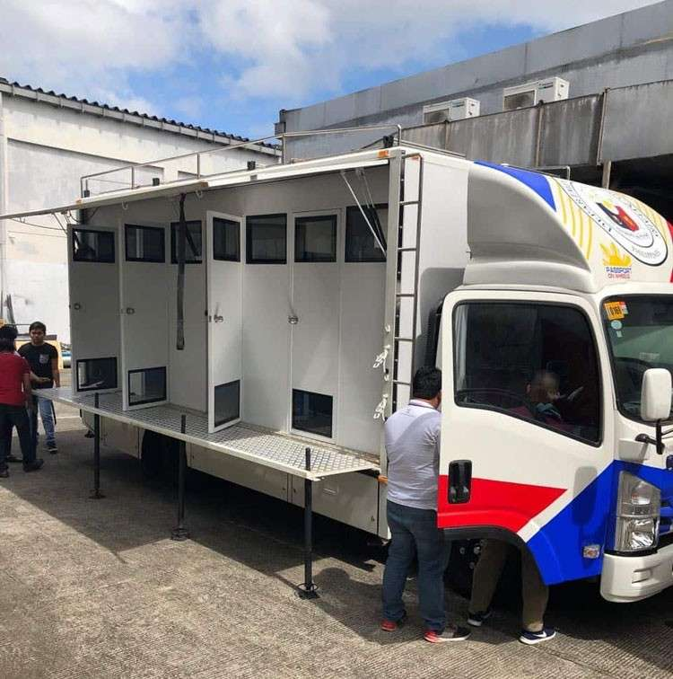 Passport applicants may file their application on the Passport on Wheels. (DFA)
