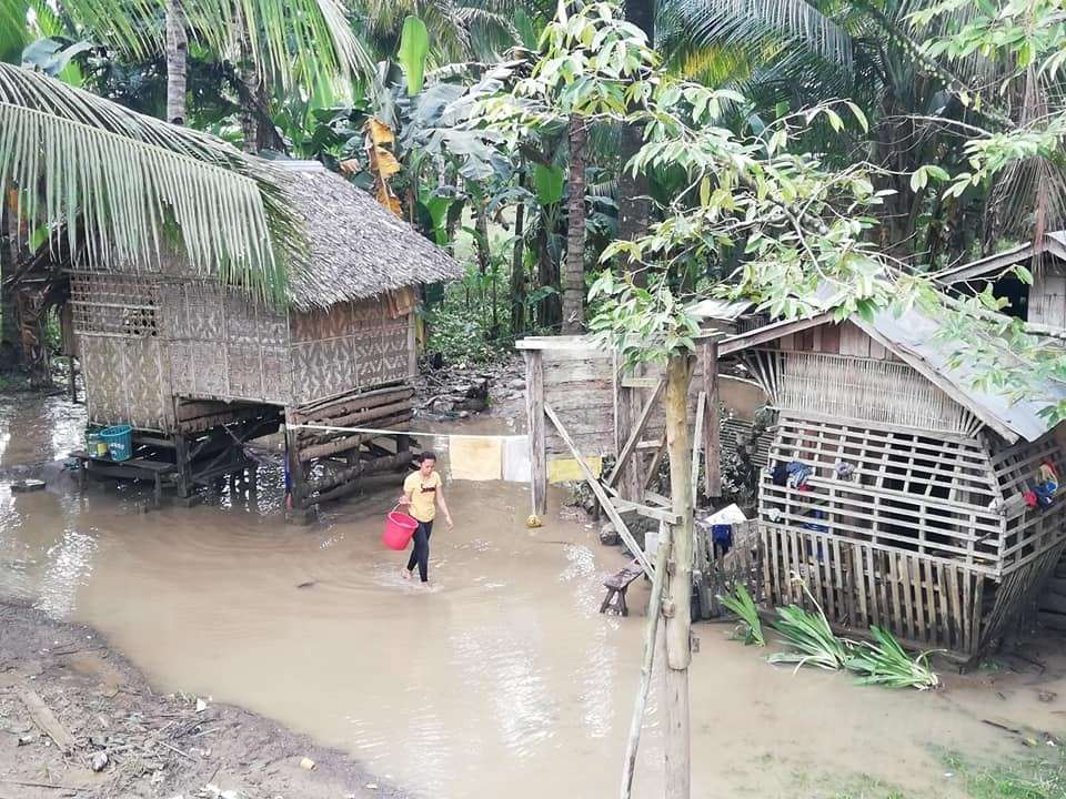 DAVAO. The flood situation in Barangay San Miguel, Purok 9 located in Tagum City on January 29. (Contributed photo)