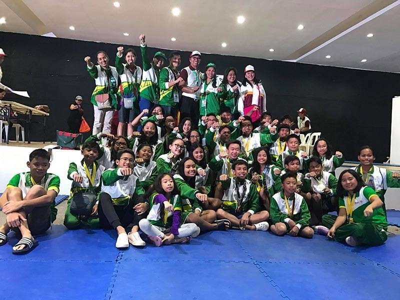 DAVAO. Members of the Davao City swimming team in a victory pose after harvesting a total of 47 gold medals, 34 silvers and 13 bronzes in the just-concluded Davraa Meet 2019 swimming competition held at Davao del Norte Sports and Tourism Complex in Tagum City. (Myra Grace Villanueva)