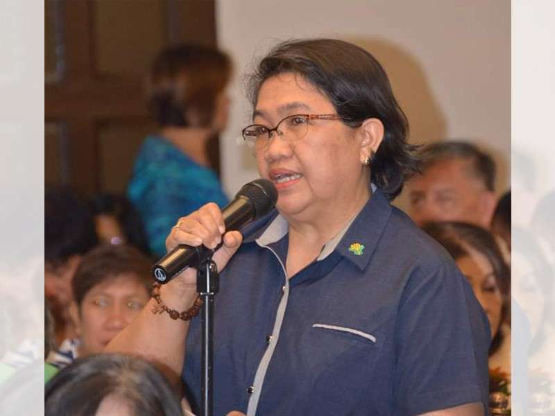 NEGROS. Department of Agriculture- Western Visayas Regional Director Remelyn Recoter speaks during the Negros First Transformative Agriculture Summit at Nature's Village Resort in Talisay City, on Thursday, January 31. (Richard Malihan)