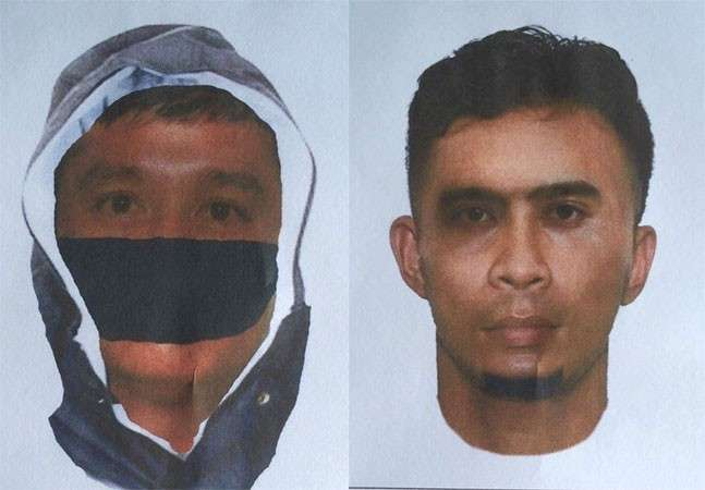 MANILA. Facial composite sketch of two persons involved in the killing of National Democratic Front of the Philippines consultant Randy Malayao. (Courtesy of PRO-Cagayan Valley)