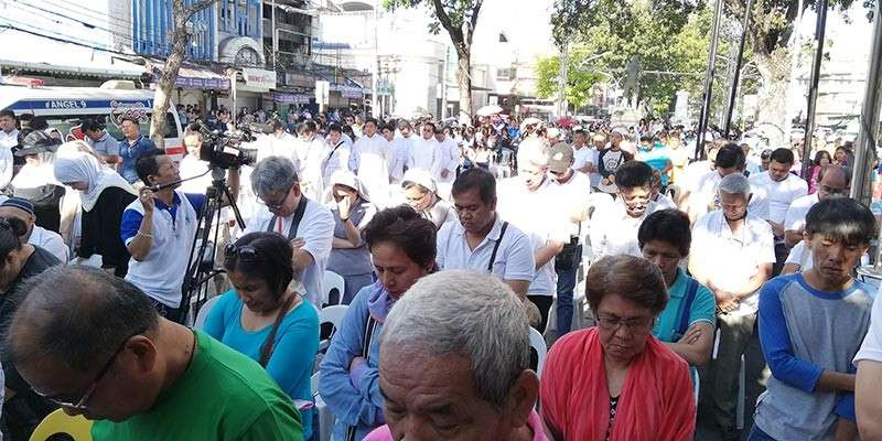 Hundreds of Kagayanon attend the interfaith prayer rally on Saturday to offer prayers for the victims of Jolo Cathedral bombing and the Zamboanga mosque bombing. (PJ Orias)