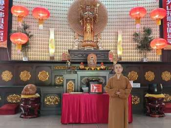 BACOLOD. Master Miao Ren, abbess of Bacolod Yuan Thong Temple located at Barangay Villamonte, Bacolod City. (Carla Cañet)